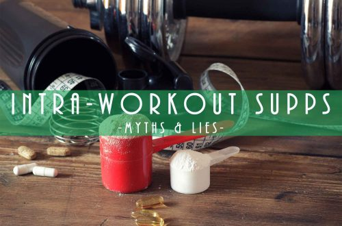 supplements, pills, and dumbbells